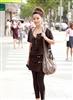 街拍上海美女黑色紧身裤1.jpg
