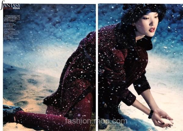杜鹃《vogue》中国版时尚大片2010年十二月号(图)