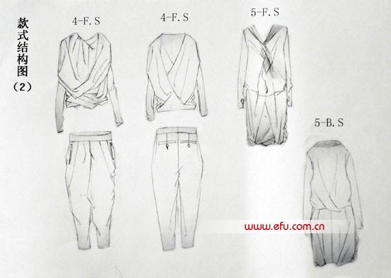 """2010""""华孚杯""""色纺时尚设计大赛入围作品; 时尚女衬衫款式图; 图片"""