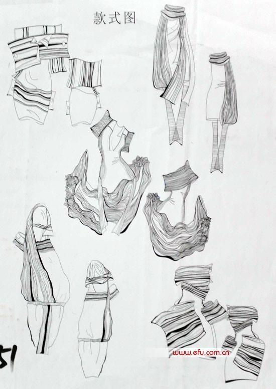 点服装款式图手绘