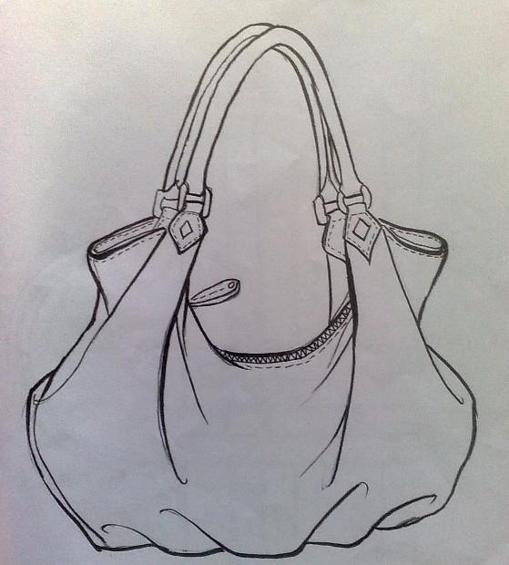 箱包手绘设计图