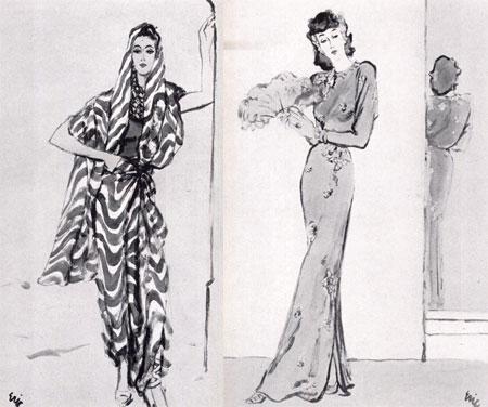 欧式晚礼服手绘图
