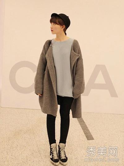 灰色外套搭配图片 穿出成熟大气感4.jpg
