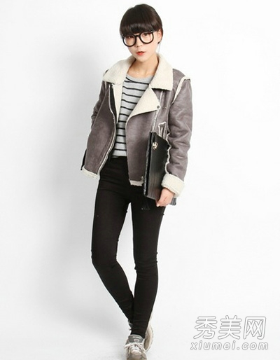 灰色外套搭配图片 穿出成熟大气感7.jpg