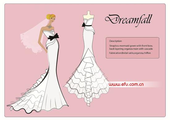 第三届亚洲青年婚纱时装设计大赛最后30名入围作品