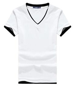 V领T恤衫