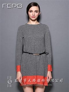 兔绒混纺连衣裙
