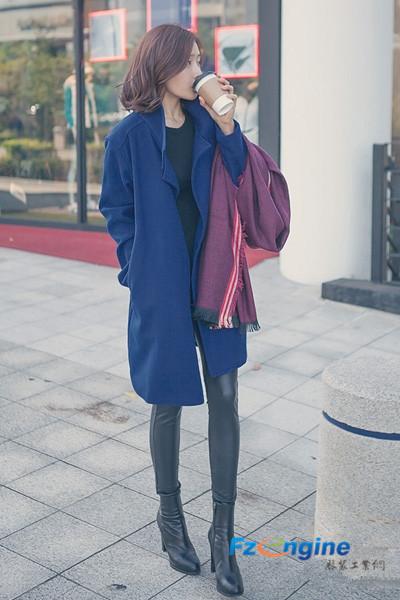 知性毛呢大衣时尚搭 释放迷人女人味