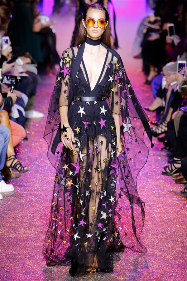 Elie Saab(艾丽·萨博)2017春夏巴黎时装大秀 星光璀璨的奢华摇滚