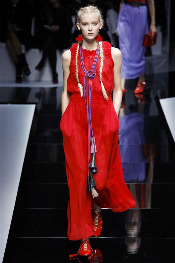 Emporio Armani(安普里奥·阿玛尼)2017春夏巴黎时装大秀 异域风情&东方风雅