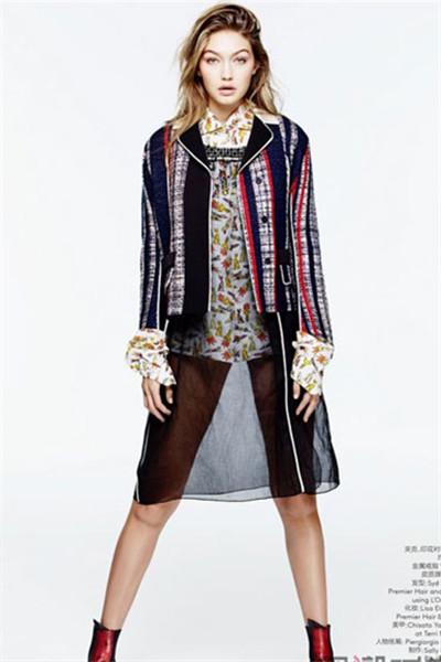 超模Gigi Hadid变身《Vogue服饰与美容》三月刊封面女郎