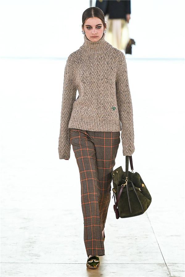 冬日里的绿意盎然,Tory Burch 2019秋冬纽约时装秀