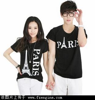 2012时尚情侣装批发夏季韩版个性可爱卡通印