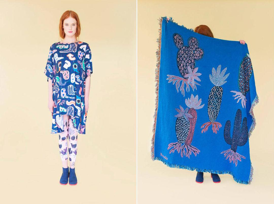 从手绘稿到纺织品,涂鸦是她所有产品灵感来源