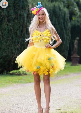 英国举行英格兰小姐选美 众多佳丽穿环保主题服装亮相2.png